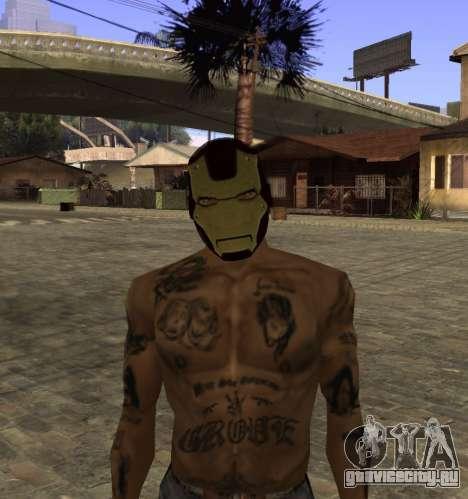 Маска Железного Человека для CJ для GTA San Andreas четвёртый скриншот