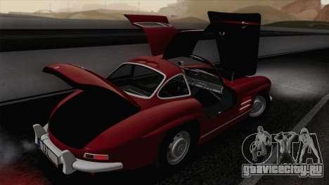 Mercedes-Benz 300SL 1955 для GTA San Andreas вид сбоку