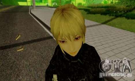 Девушка блондинка в черной одежде для GTA San Andreas девятый скриншот