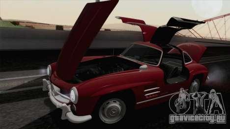 Mercedes-Benz 300SL 1955 для GTA San Andreas вид изнутри