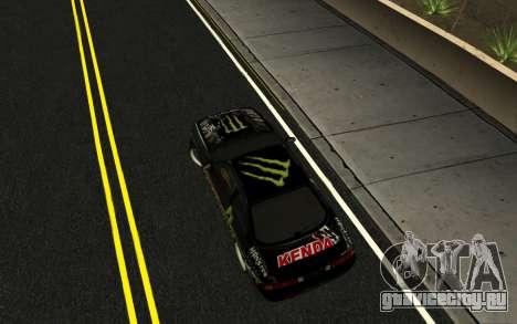 Nissan Silvia S14 Monster Energy KENDA Tire для GTA San Andreas вид справа
