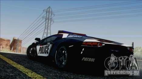 Lamborghini Aventador LP 700-4 Police для GTA San Andreas двигатель