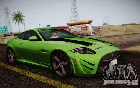 Jaguar XKR-S GT 2013 для GTA San Andreas вид сзади слева