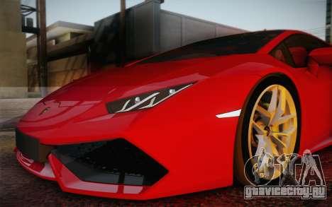 Lamborghini Huracan 2013 для GTA San Andreas колёса