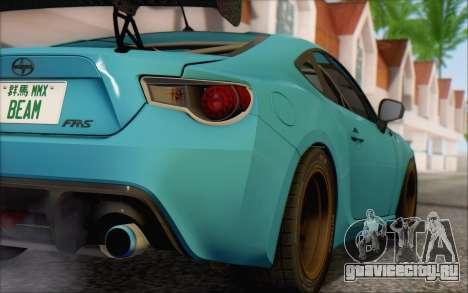 Scion FR-S 2013 Beam для GTA San Andreas вид сзади