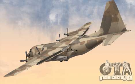 C-130H Hercules для GTA San Andreas вид слева