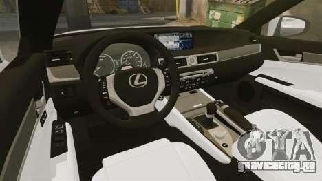 Lexus GS 300h для GTA 4 вид изнутри