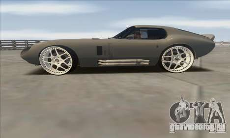 Shelby Cobra Daytona для GTA San Andreas вид сзади слева