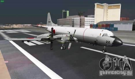 Lockheed P-3 Orion FAJ для GTA San Andreas вид сверху