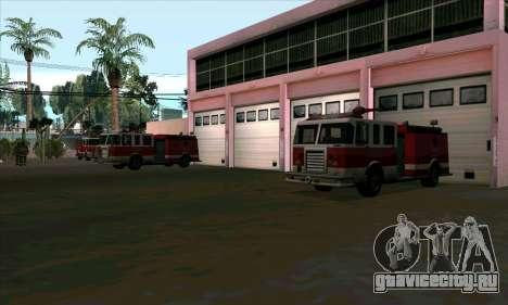 Реалистичная пожарная станция в Лас Вентурасе для GTA San Andreas третий скриншот