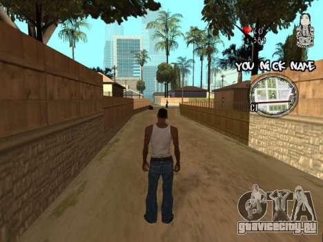 C-HUD by San4os для GTA San Andreas второй скриншот