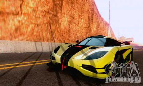 Koenigsegg One 2014 для GTA San Andreas вид сзади слева