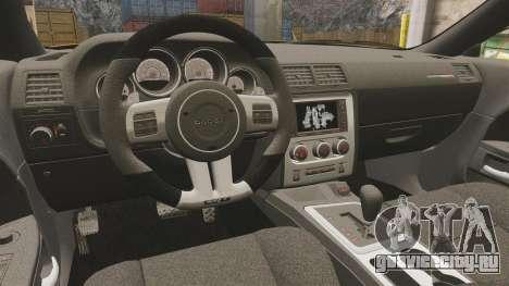 Dodge Challenger SRT8 2012 для GTA 4 вид изнутри
