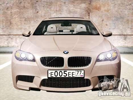 BMW M5 F10 2012 для GTA San Andreas вид слева