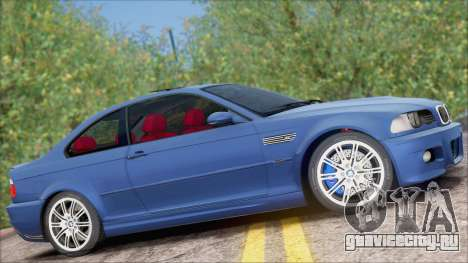 BMW M3 E46 2002 для GTA San Andreas вид сзади слева