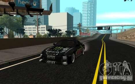 Nissan Silvia S14 Monster Energy KENDA Tire для GTA San Andreas