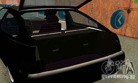 VAZ-21123 TURBO-Кобра для GTA San Andreas вид изнутри
