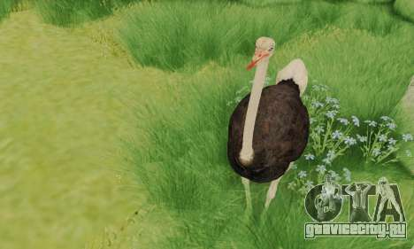 Ostrich From Goat Simulator для GTA San Andreas третий скриншот