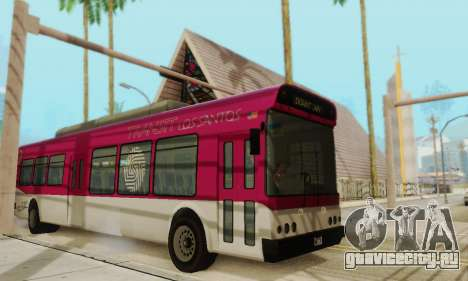 Transit Bus из GTA 5 для GTA San Andreas вид слева