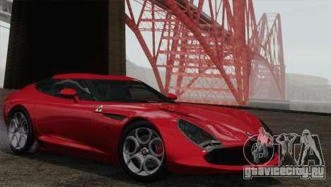 Alfa Romeo Zagato TZ3 2012 для GTA San Andreas вид сзади слева