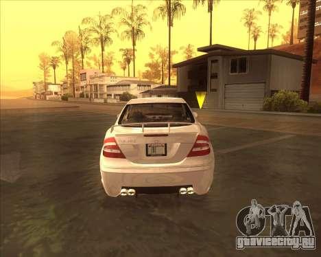 Mercedes CLK 500 из NFS Most Wanted для GTA San Andreas вид справа