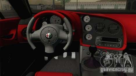 Alfa Romeo Zagato TZ3 2012 для GTA San Andreas вид сзади