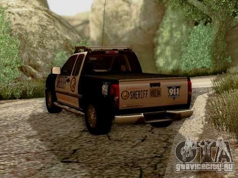 Chevrolet Colorado Sheriff для GTA San Andreas вид сзади слева