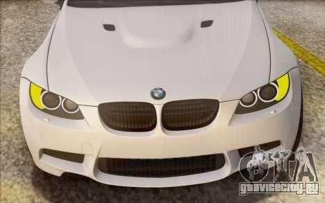 BMW M3 E92 2008 для GTA San Andreas вид сверху