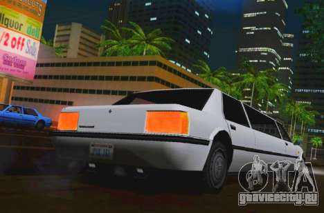 Vincent Limousine для GTA San Andreas вид сзади слева