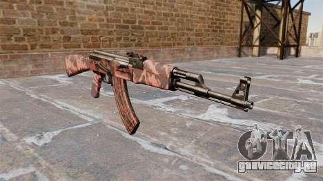 Автомат АК-47 Red tiger для GTA 4