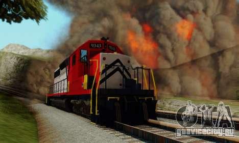 GTA V Trem для GTA San Andreas вид справа