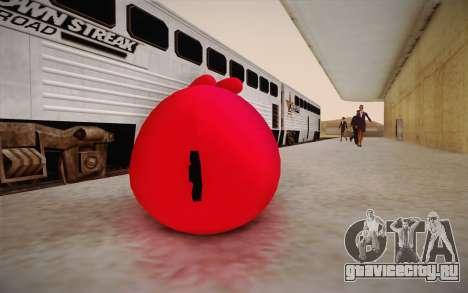 Red Bird from Angry Birds для GTA San Andreas второй скриншот