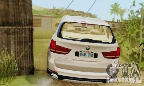 BMW X5 (F15) 2014 для GTA San Andreas вид сзади
