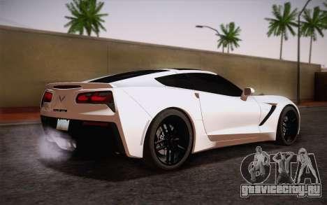 Chevrolet Corvette Stingray C7 2014 для GTA San Andreas вид слева