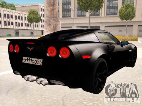 Chevrolet Corvette Grand Sport для GTA San Andreas колёса