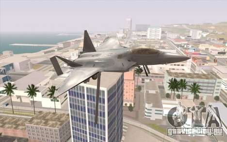 F-22 Raptor для GTA San Andreas вид справа