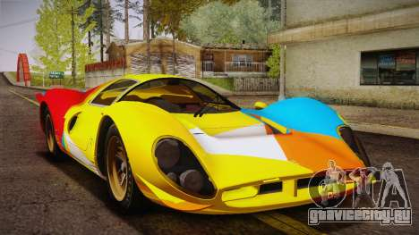 Ferrari 330 P4 1967 HQLM для GTA San Andreas вид снизу