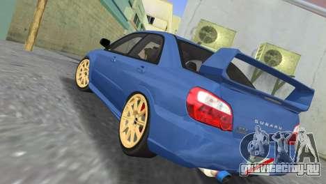 Subaru Impreza WRX STI 2005 для GTA Vice City вид сзади слева