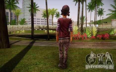 Clementine из The Walking Dead для GTA San Andreas второй скриншот