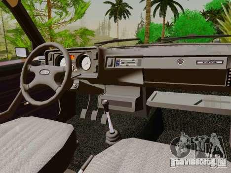 ВАЗ-2105 для GTA San Andreas вид изнутри