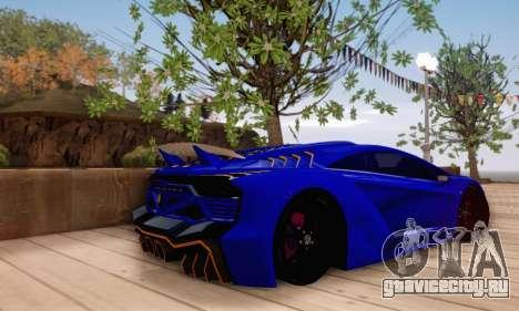 Pegassi Zentorno GTA 5 v2 для GTA San Andreas салон