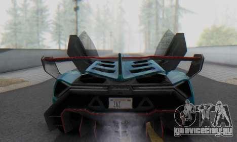 Lamborghini LP750-4 2013 Veneno Blue Star для GTA San Andreas салон