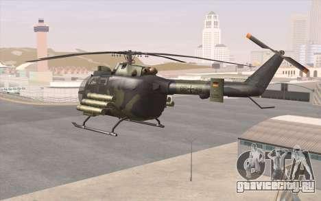 Bo-105 для GTA San Andreas вид сзади слева
