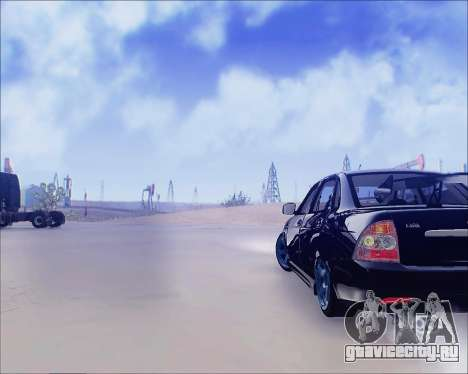 Lada 2170 Priora Tuneable для GTA San Andreas вид сзади слева