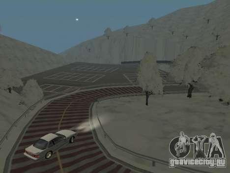 SinAkagi Snow Дрифт трасса для GTA San Andreas третий скриншот