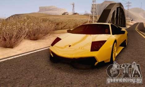 Lamborghini Murcielago LP670-4 SV для GTA San Andreas вид слева