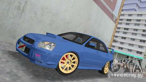 Subaru Impreza WRX STI 2005 для GTA Vice City вид сбоку