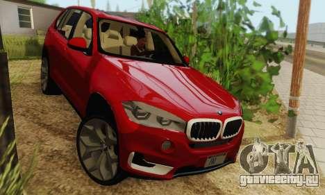 BMW X5 (F15) 2014 для GTA San Andreas вид сзади слева
