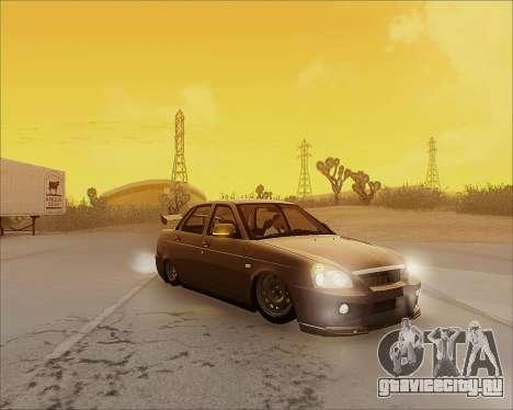 Lada 2170 Priora Tuneable для GTA San Andreas салон