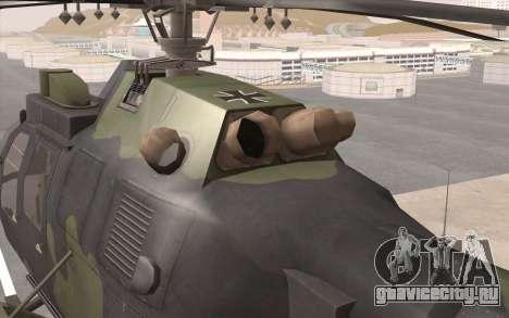 Bo-105 для GTA San Andreas вид сзади